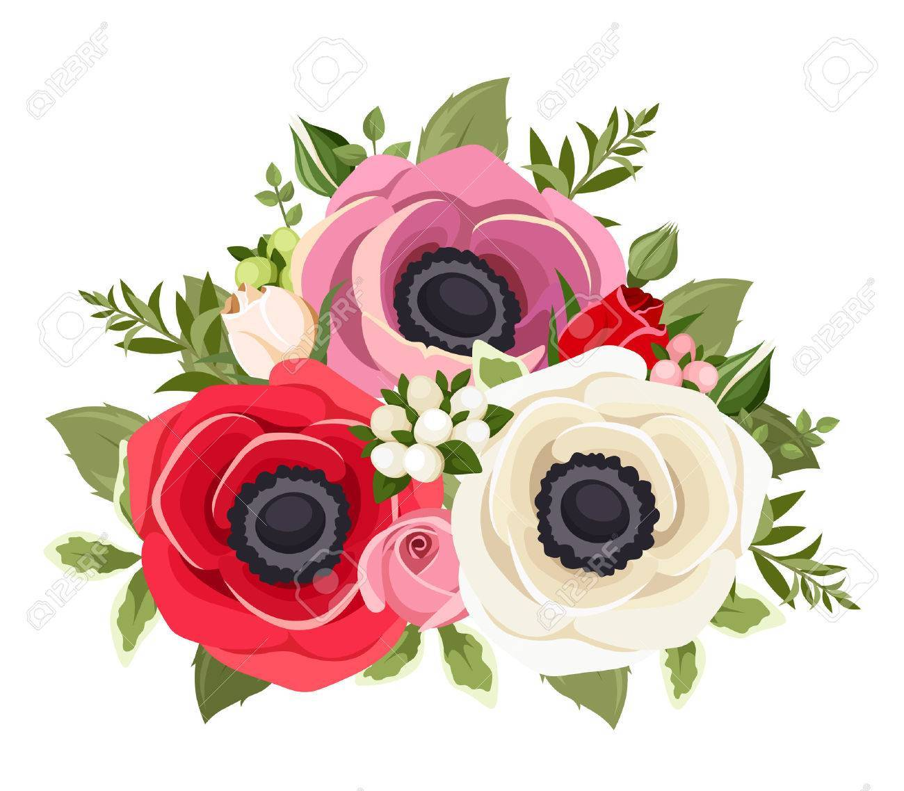 Anemone and rose clipart jpg black and white library Anemone flower clipart 7 » Clipart Portal jpg black and white library