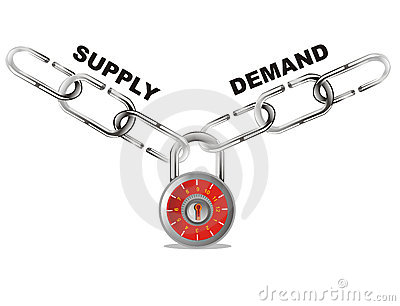 Demand stock illustrations vectors. Angebot und nachfrage clipart