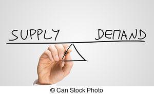 Angebot und nachfrage clipart. Supply demand stock photo
