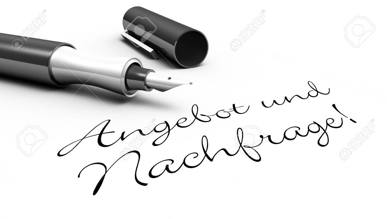 Stift konzept lizenzfreie fotos. Angebot und nachfrage clipart
