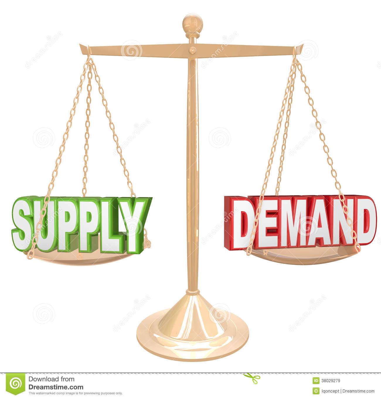 Clipartfest supply and demand. Angebot und nachfrage clipart