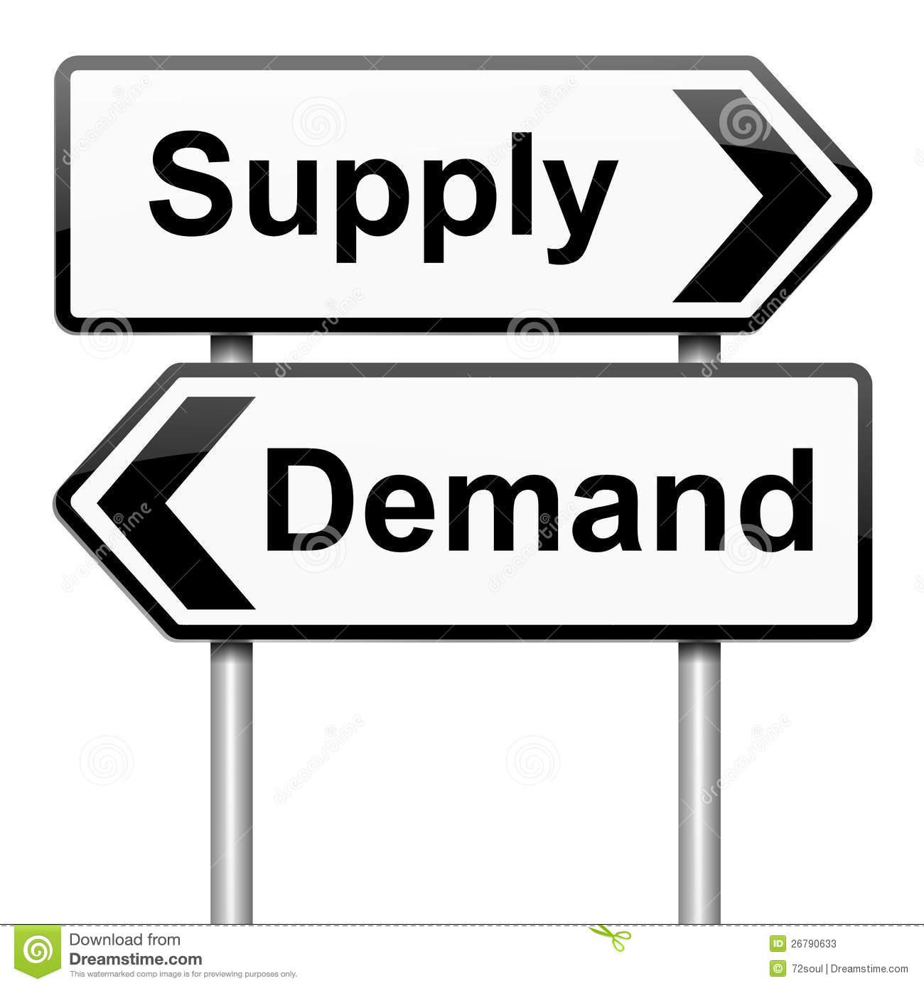 Angebot und nachfrage clipart. Stock illustrationen vektors klipart
