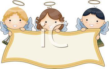 Angel banner clipart