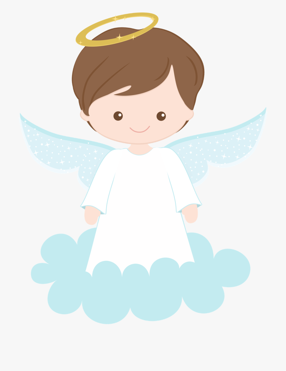 Baptism angels in black and white clipart vector transparent Christening Angel Clipart Png - Boy Angel First Communion #380434 ... vector transparent