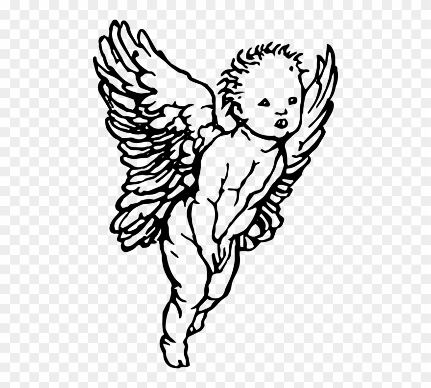 Angel clipart drawing banner library stock Simple Drawing Cherub Angel Clipart (#890724) - PinClipart banner library stock