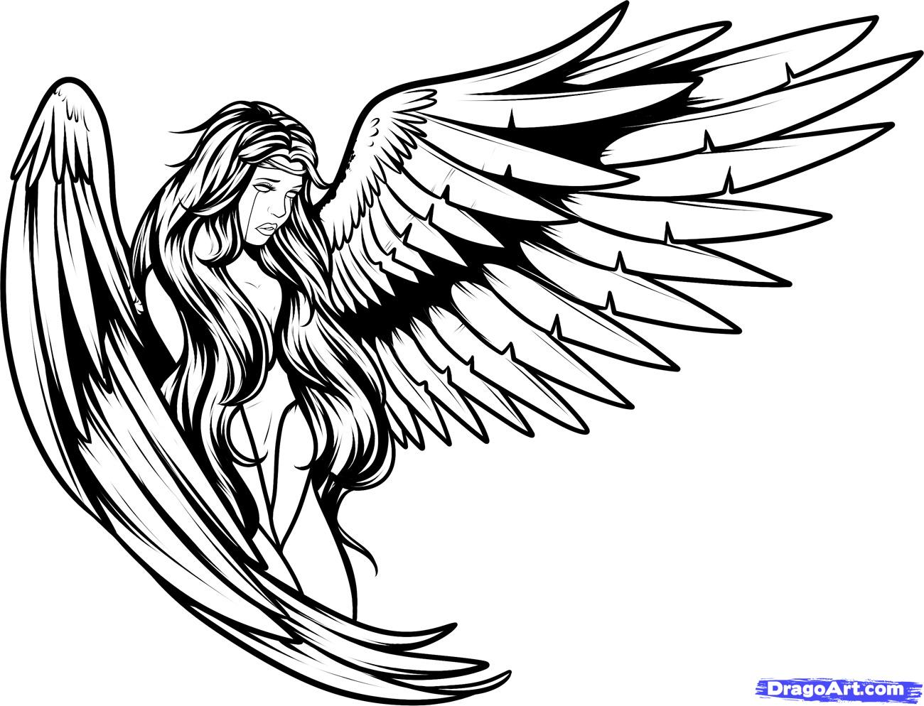 Angel clipart drawing graphic library library Angel Outline Drawing | Free download best Angel Outline Drawing on ... graphic library library