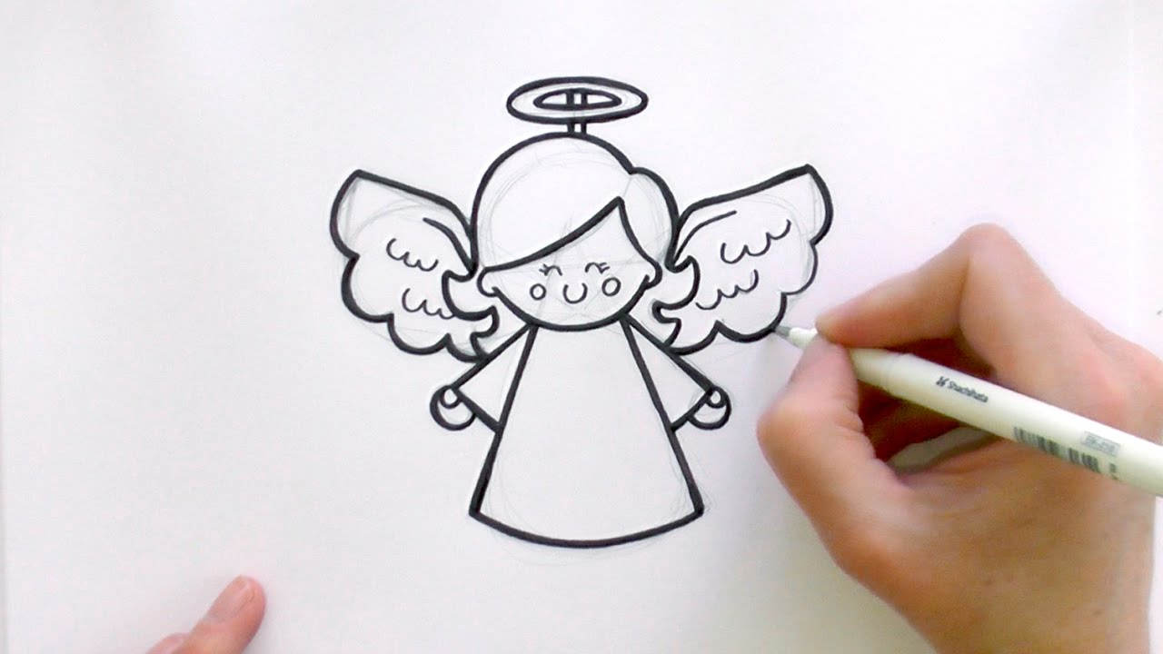 Angel clipart drawing jpg free stock Best Christmas Angel Clipart How Draw - Clipart1001 - Free Cliparts jpg free stock