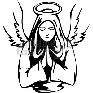Vector angel clipart