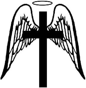 Angel cross clipart clipart black and white download Drawings Of Crosses With Wings | Free download best Drawings Of ... clipart black and white download