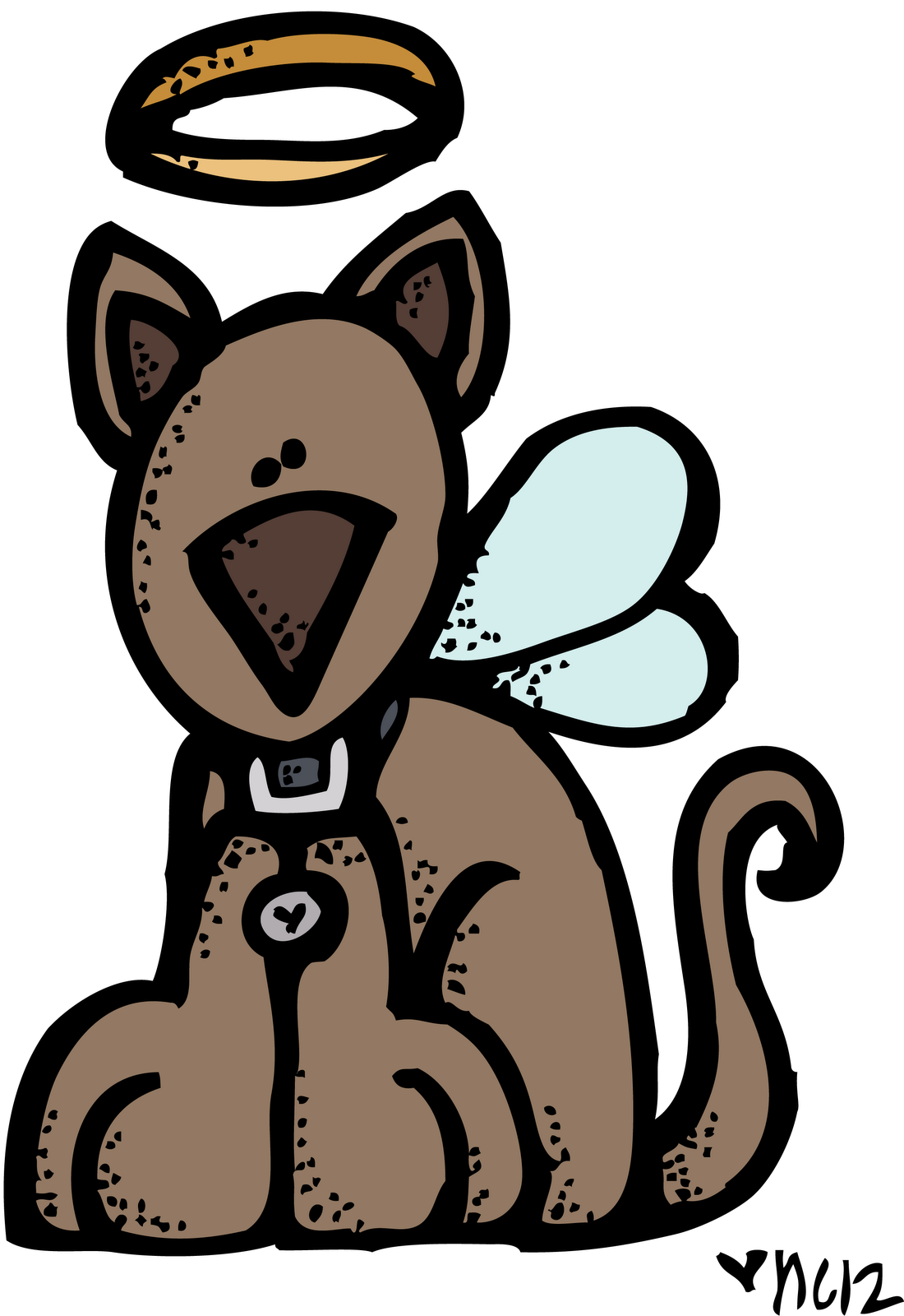 Angel dog clipart svg free stock Top Angel Dog Melonheadz Colored Pictures svg free stock
