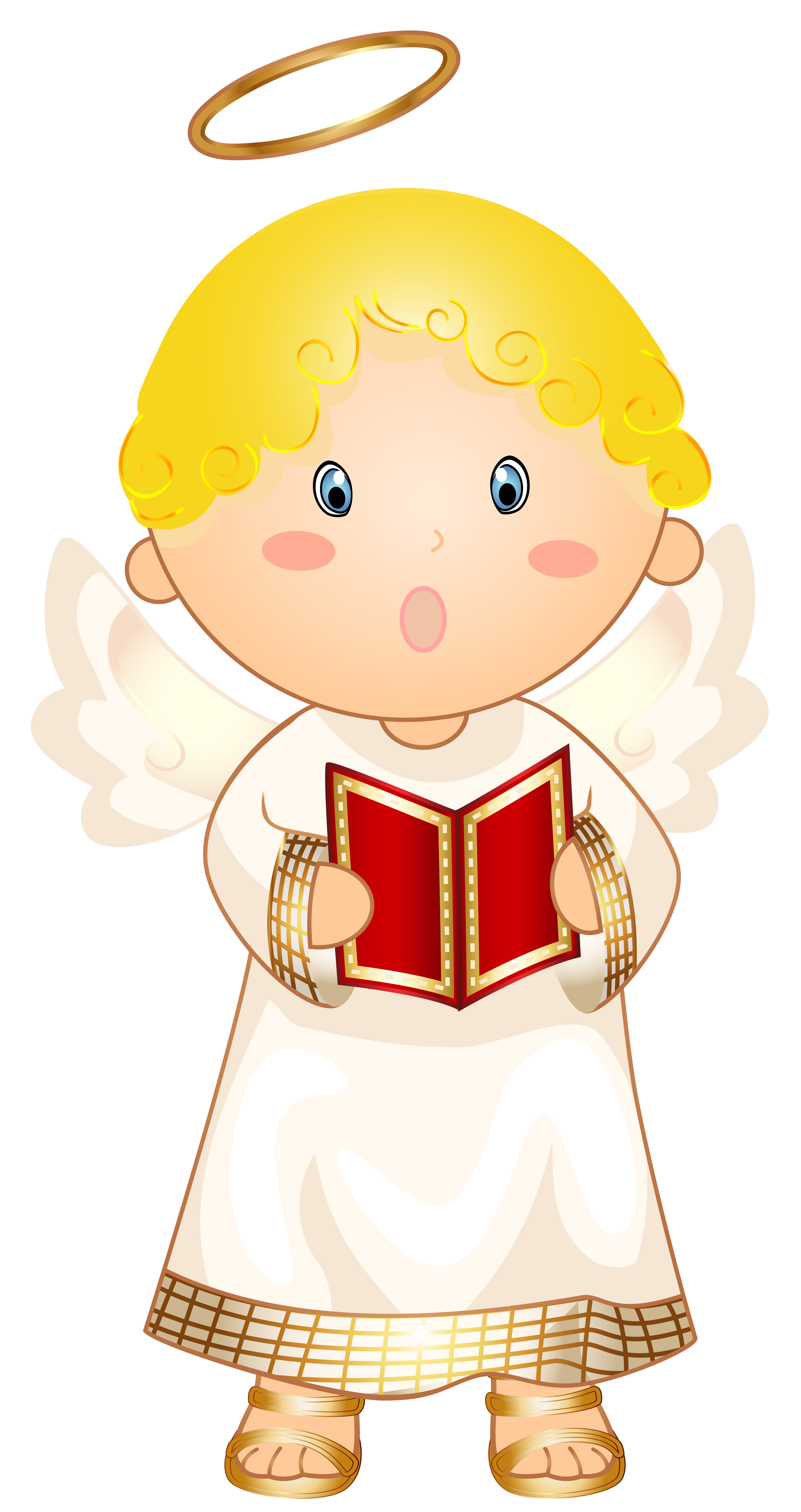 Angel halloween clipart jpg black and white library Little Angel Caroler Transparent PNG Clip Art Image | Gallery ... jpg black and white library