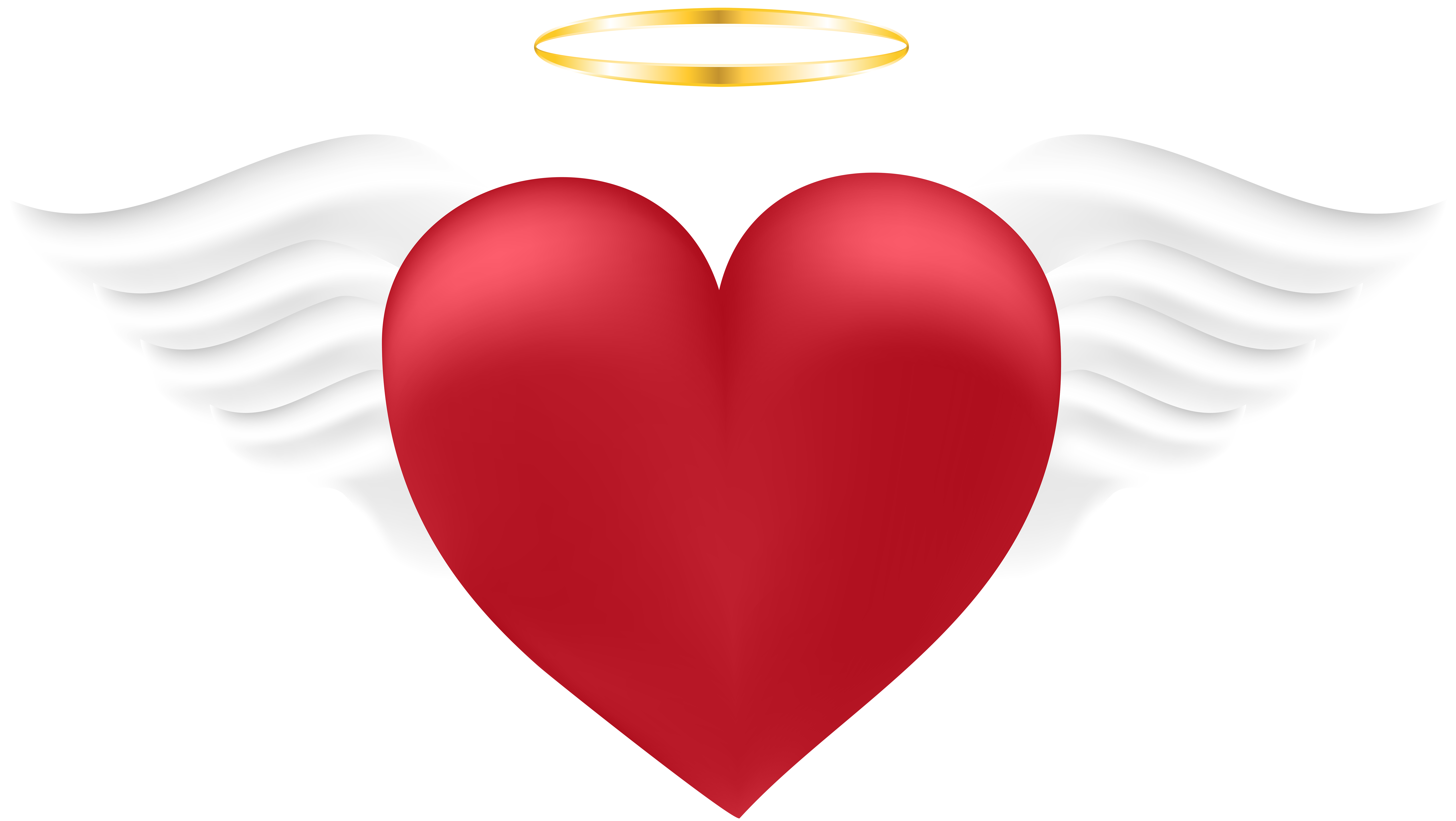 Angel heart clipart vector royalty free library Angel Heart Transparent PNG Image   Gallery Yopriceville - High ... vector royalty free library