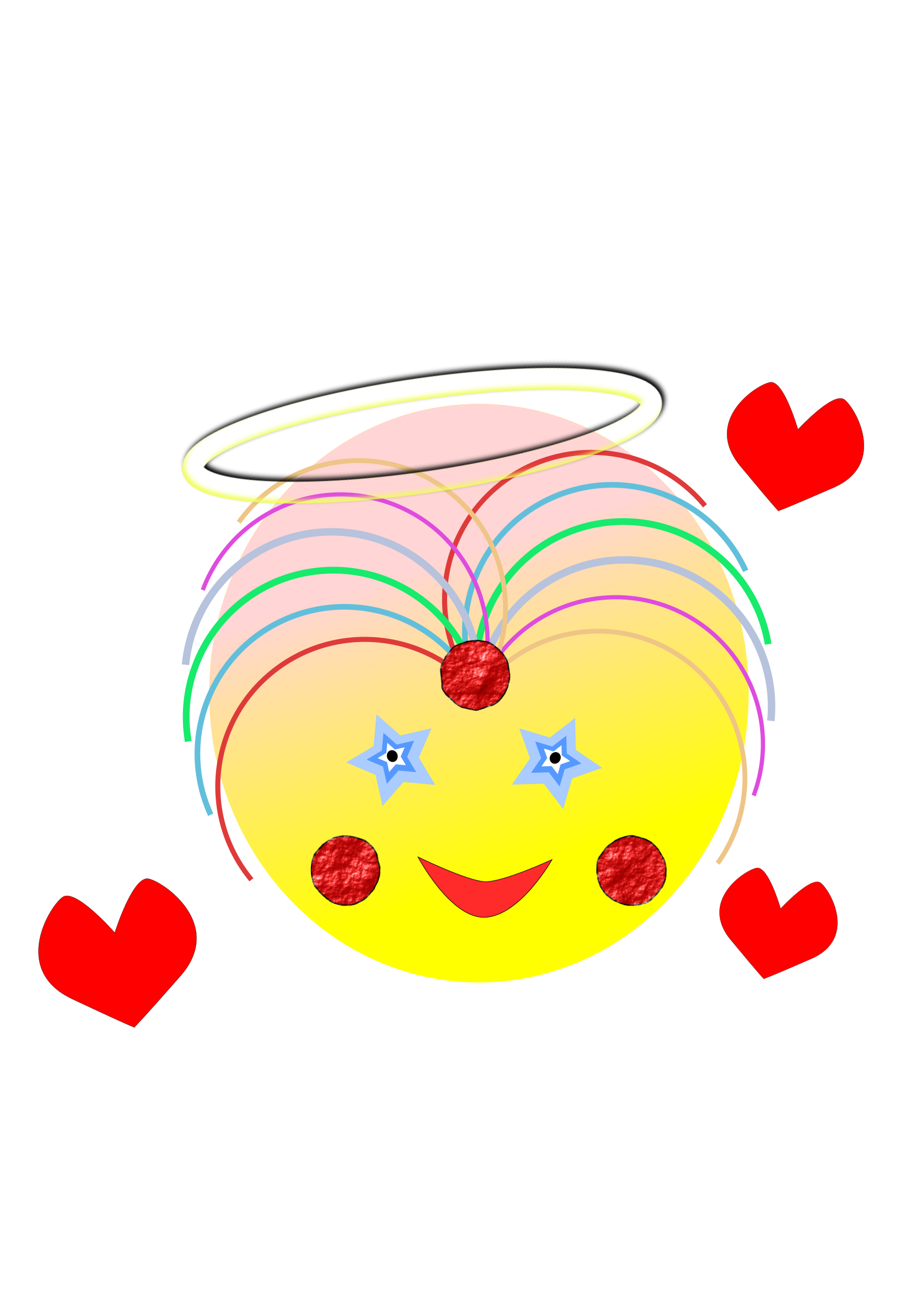Angel heart clipart vector royalty free Clipart - The face of an angel vector royalty free