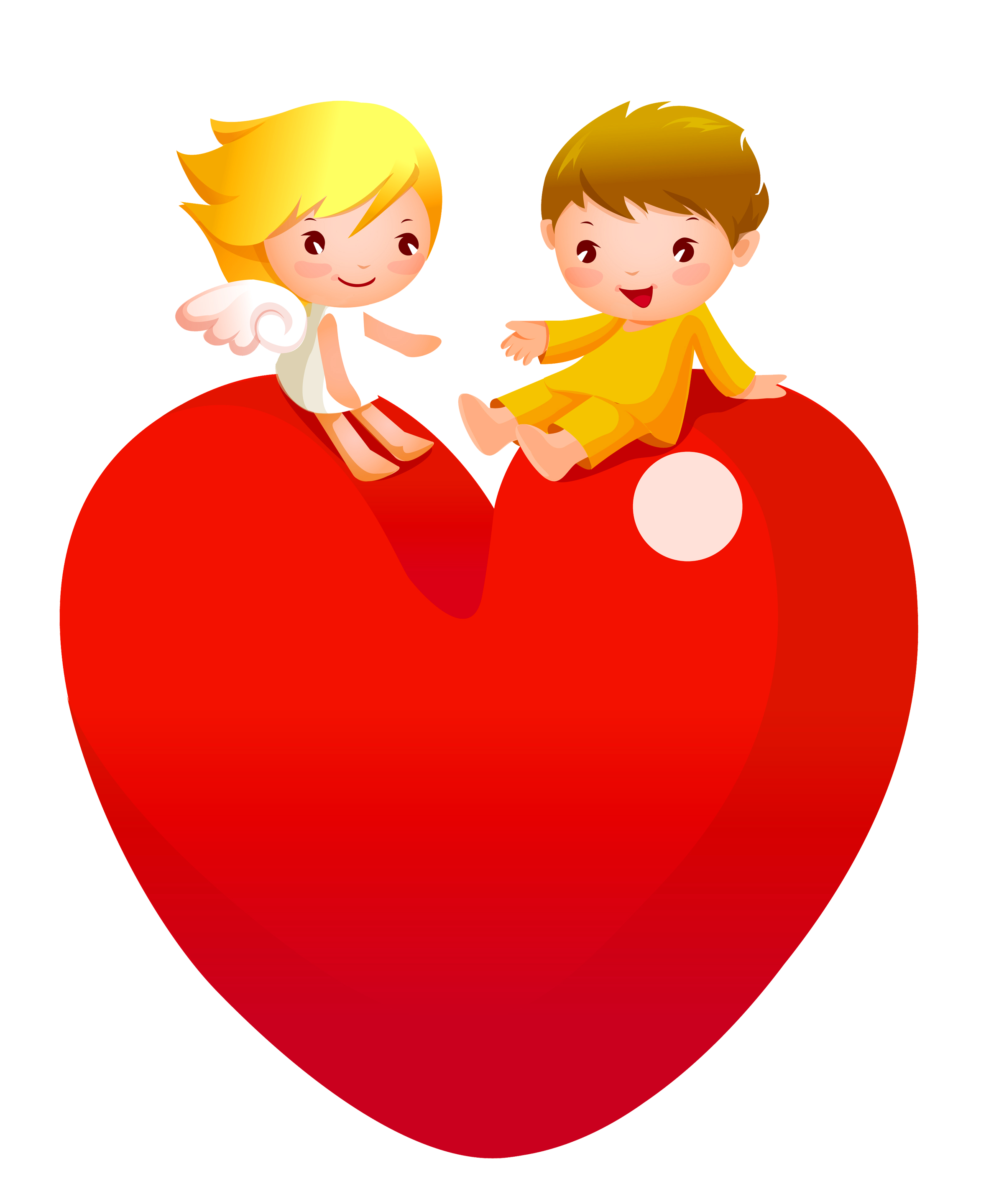 Heart person clipart png free download Red Heart with Angels PNG Clipart | Gallery Yopriceville - High ... png free download