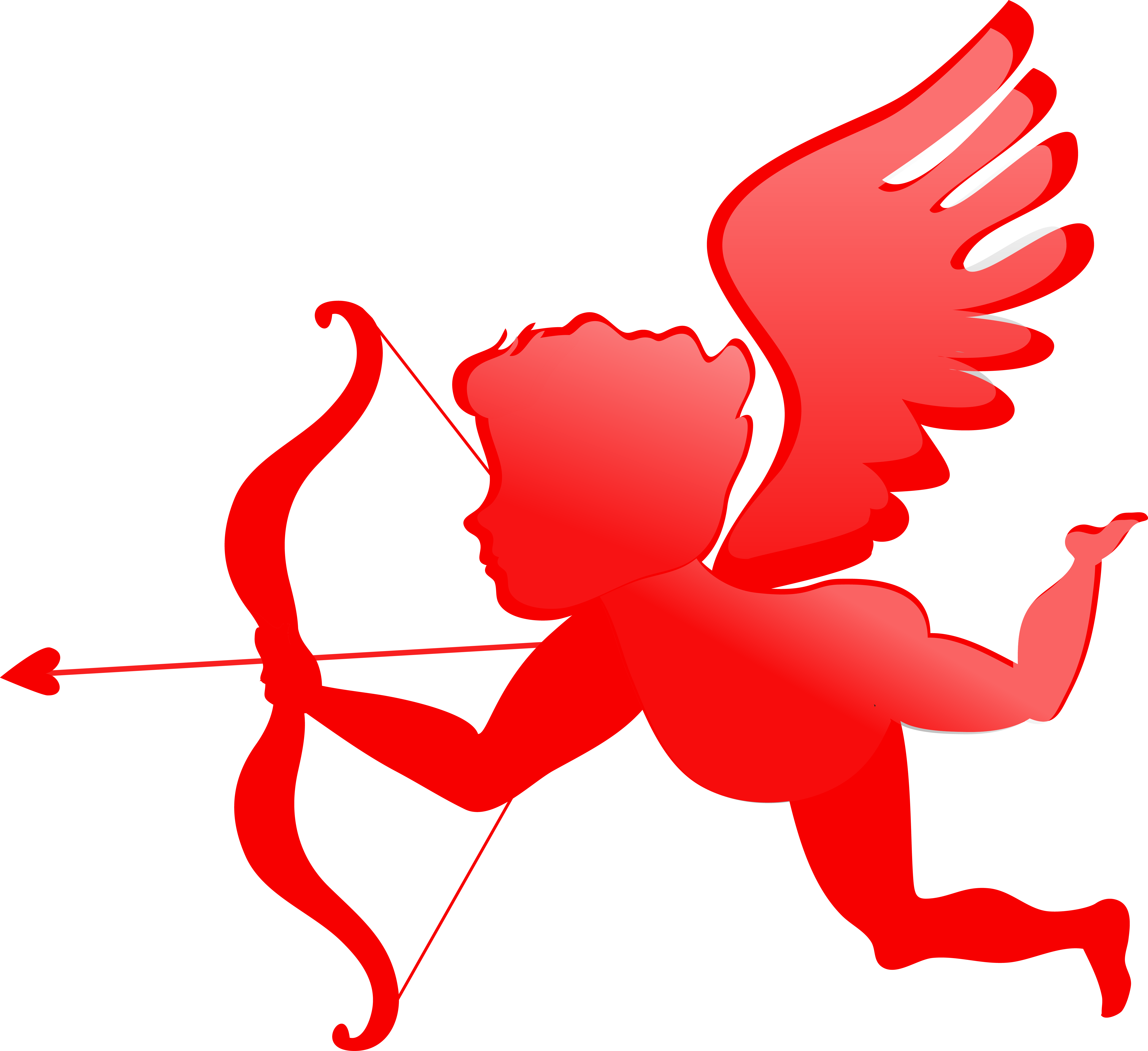 Heart with angel wings clipart clip art library download Cherub Valentines Day Cupid Angel Clip art - Cupid silhouette ... clip art library download