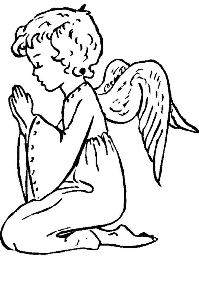 Angel kneeling and praying clipart vector black and white stock Free Angel Praying Cliparts, Download Free Clip Art, Free Clip Art ... vector black and white stock