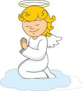 Angel kneeling and praying clipart svg transparent Angel kneeling praying on cloud » Clipart Station svg transparent