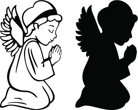 Angel kneeling and praying clipart graphic transparent stock Kneeling Angel Drawing | Free download best Kneeling Angel Drawing ... graphic transparent stock