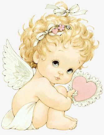 Angel lady clipart svg royalty free library Hand Painted Cartoon Angel Girl, Cartoon Clipart, Angel Clipart ... svg royalty free library