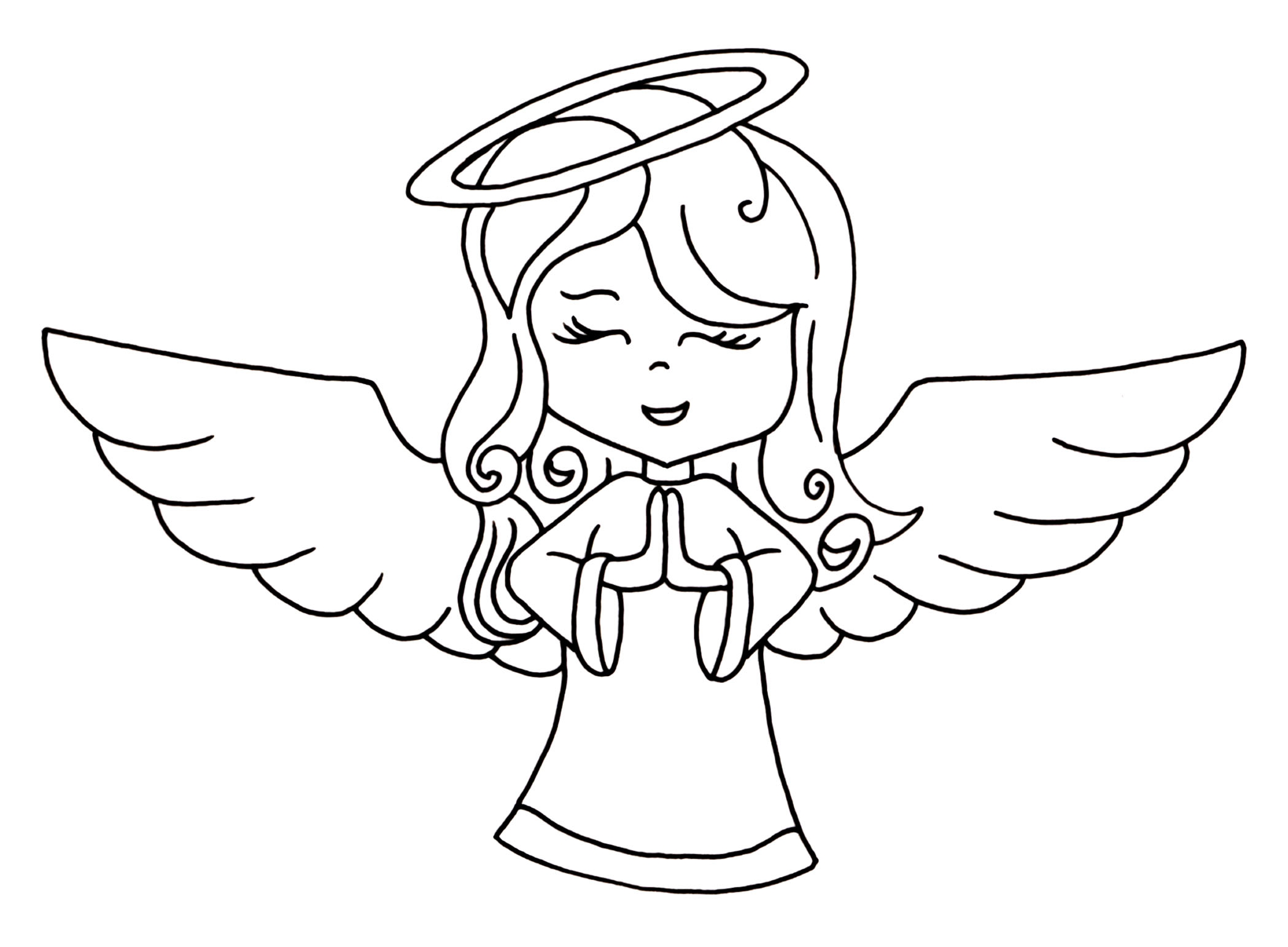Angel line drawing clipart clip art library library Angel clipart black and white Lovely Angel Line Drawing Clip Art 54 ... clip art library library