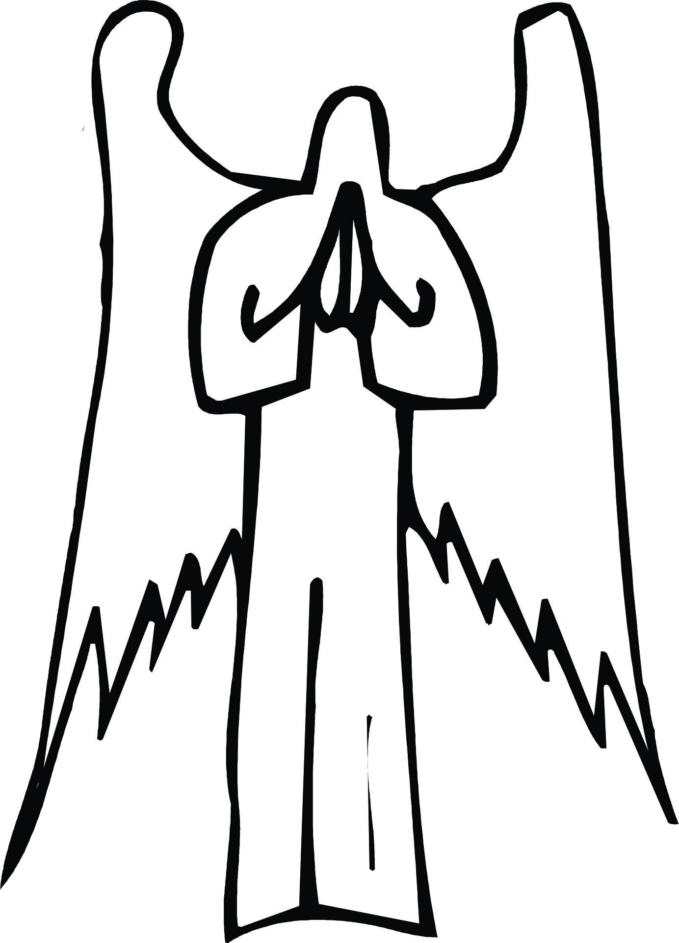 Angel line drawing clipart banner royalty free Free Angel Line Drawing, Download Free Clip Art, Free Clip Art on ... banner royalty free