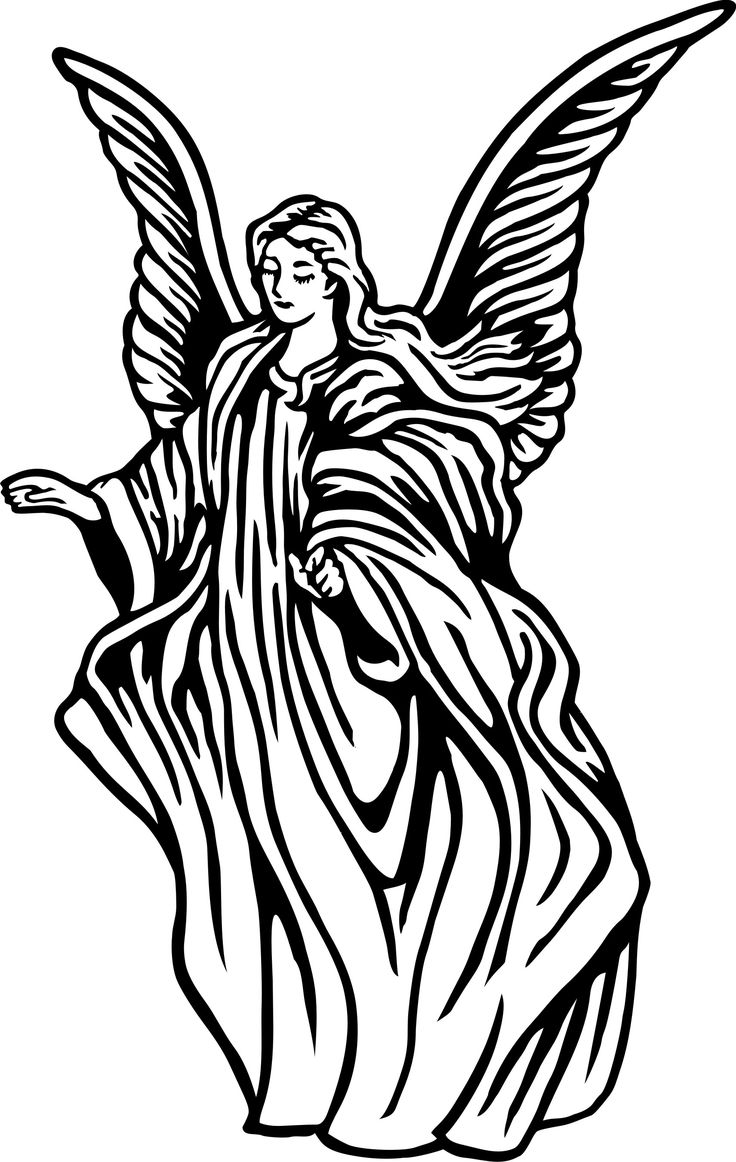 Christmas angels black and whtie clipart pencil sketch black and white library Angel Line Art Clipart | Free download best Angel Line Art Clipart ... black and white library