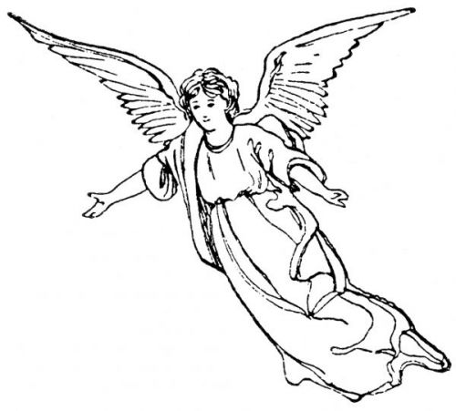 Angel line drawing clipart svg free stock Free Angel Line Drawing, Download Free Clip Art, Free Clip Art on ... svg free stock