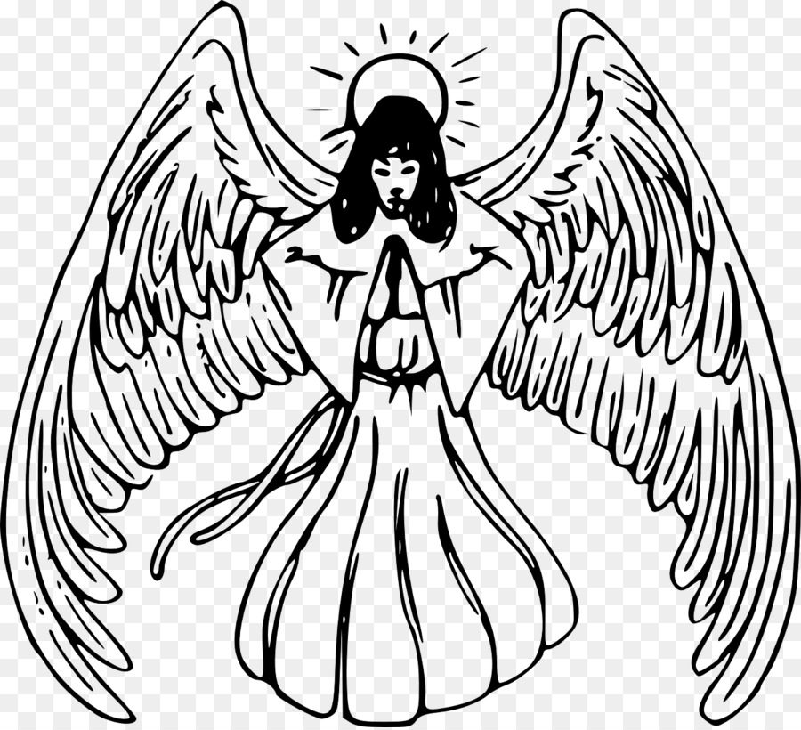 Angel line drawing clipart picture freeuse library Bird Line Drawing png download - 1280*1162 - Free Transparent Angel ... picture freeuse library