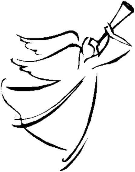 Angel line drawing clipart graphic royalty free library line drawing of angel | CLICK HERE for line drawing | Angel drawings ... graphic royalty free library