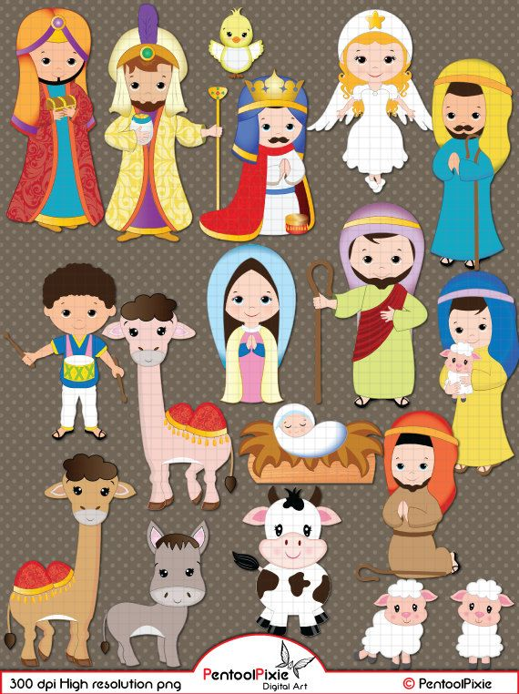Angel mary joseph clipart picture transparent stock Nativity clipart, Nativity clip art, Christmas clipart, Jesus, Mary ... picture transparent stock