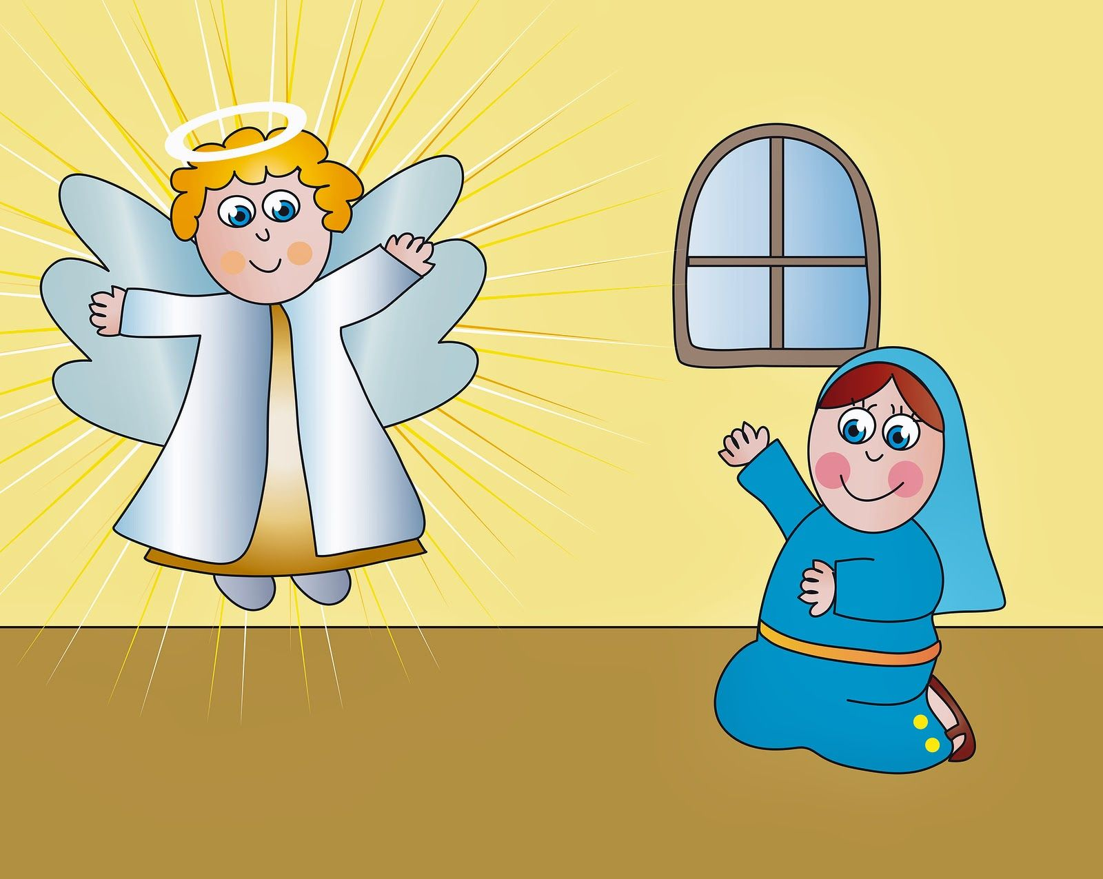 Angel mary joseph clipart