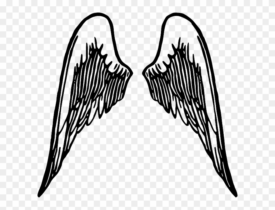 Angel music notes clipart png freeuse stock Baby, Bat, Black, Back, Music, Tribal, Note, Simple - Angel Wings ... png freeuse stock