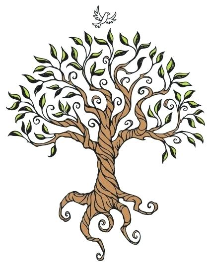Angel oak branch clipart svg black and white stock Collection of Oak tree clipart | Free download best Oak tree clipart ... svg black and white stock