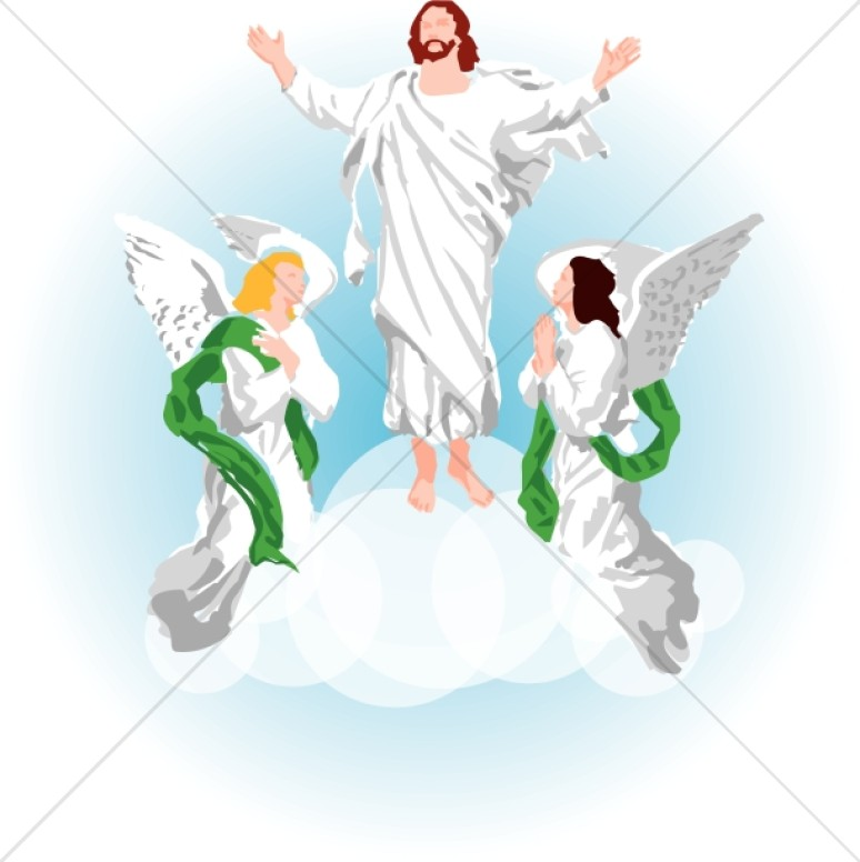 Angel of the lord clipart banner freeuse Jesus and Angels Clipart Images | Ascension Day Clipart banner freeuse