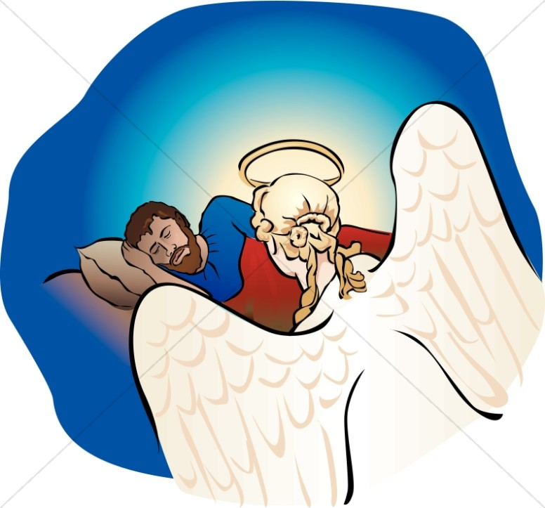 Angel talks to mary clipart picture library library Angel talking to Joseph in a Dream About Mary | Nativity Clipart picture library library