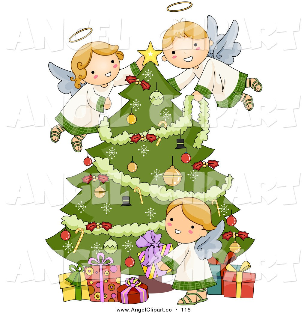 Angel on a tree clipart image transparent Angel tree clipart » Clipart Portal image transparent