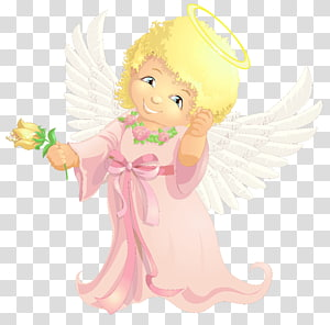 Angel sitting on ribbon clipart image Angel illustration, Angel , Cute Angel transparent background PNG ... image
