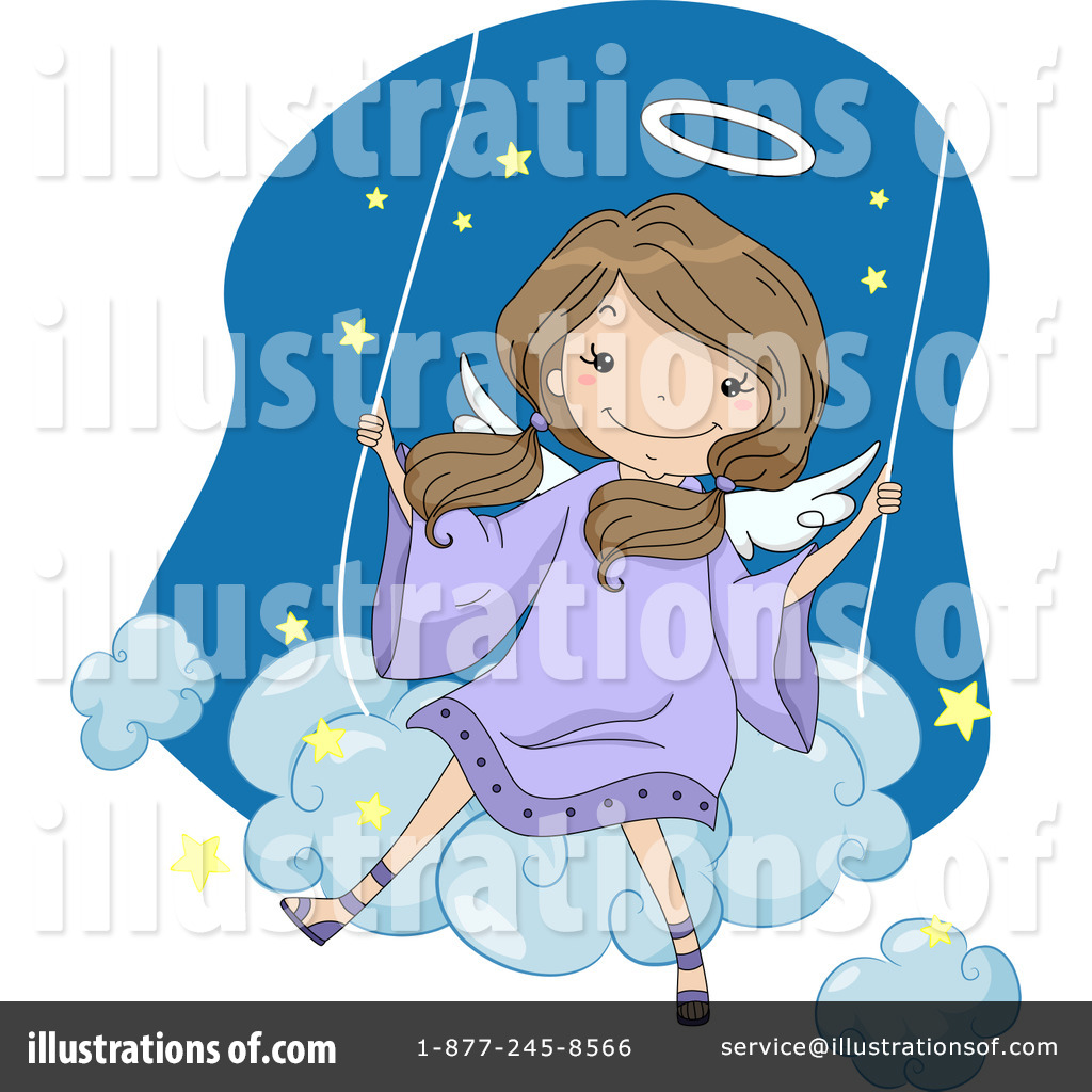 Angel swinging clipart vector royalty free download Angel Clipart #1193561 - Illustration by BNP Design Studio vector royalty free download