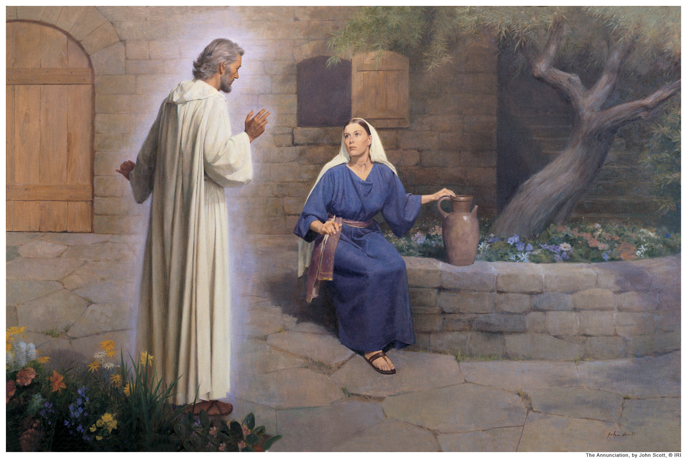Angel talks to mary clipart jpg royalty free library Gabriel Speaks Again | If I Walked With Jesus jpg royalty free library