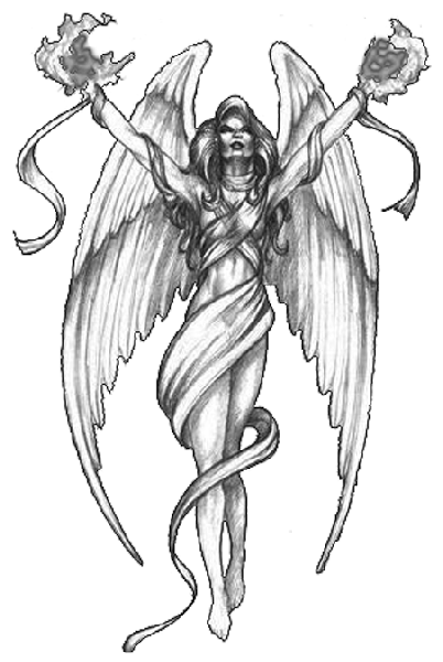 Angel tattoo clipart hd banner black and white stock Guardian angel praying tattoo clipart images gallery for free ... banner black and white stock