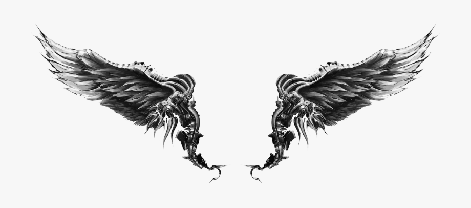 Angel tattoo clipart hd png library Wings Tattoos Clipart Computer - Wings Angel Tattoo Design #672266 ... png library