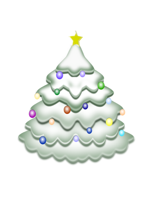 Christmas tree shape clipart graphic stock Christmas Tree Clipart - Free Holiday Graphics graphic stock
