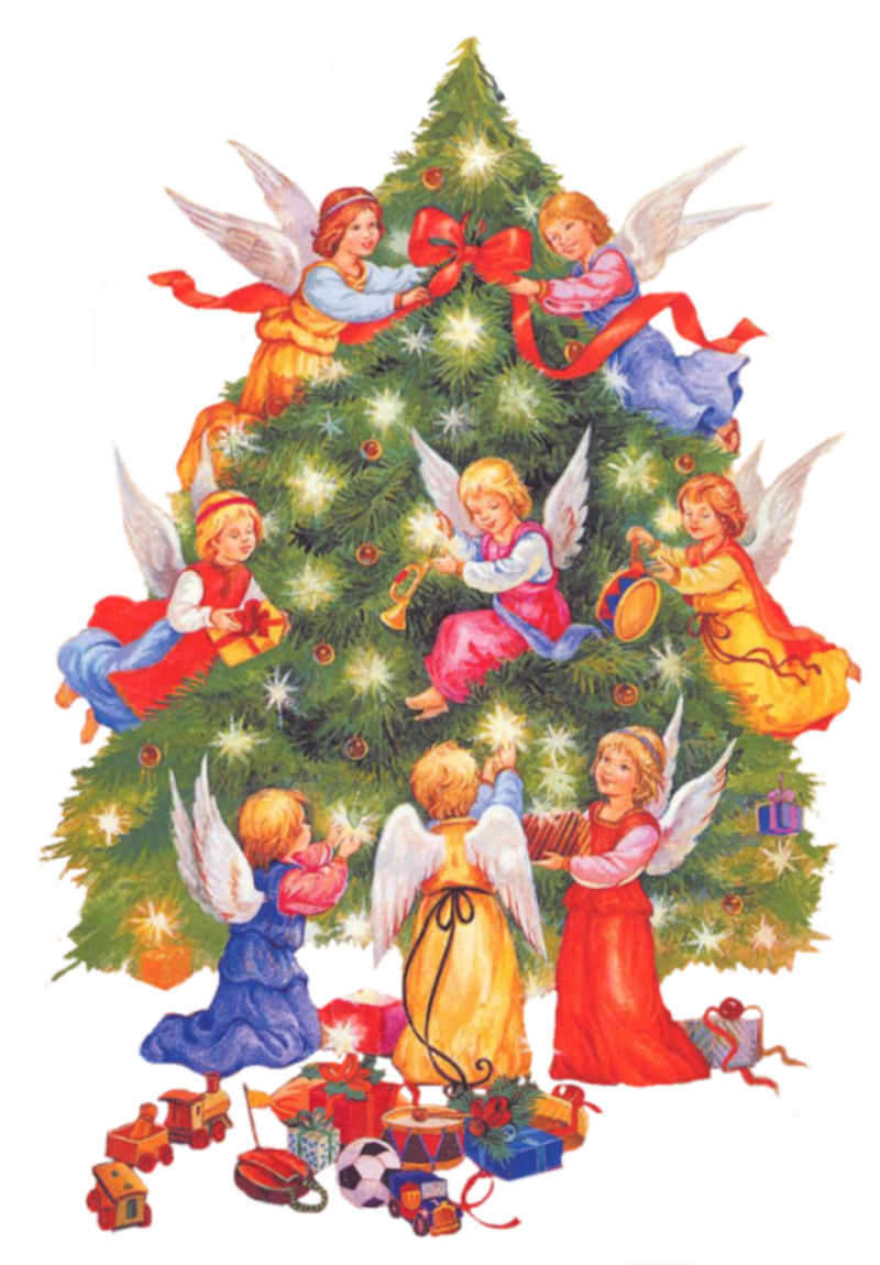 Angel tree clipart black and white library Noel_Anges_034_dedinelle.png | NAVIDAD | Pinterest | Christmas ... black and white library