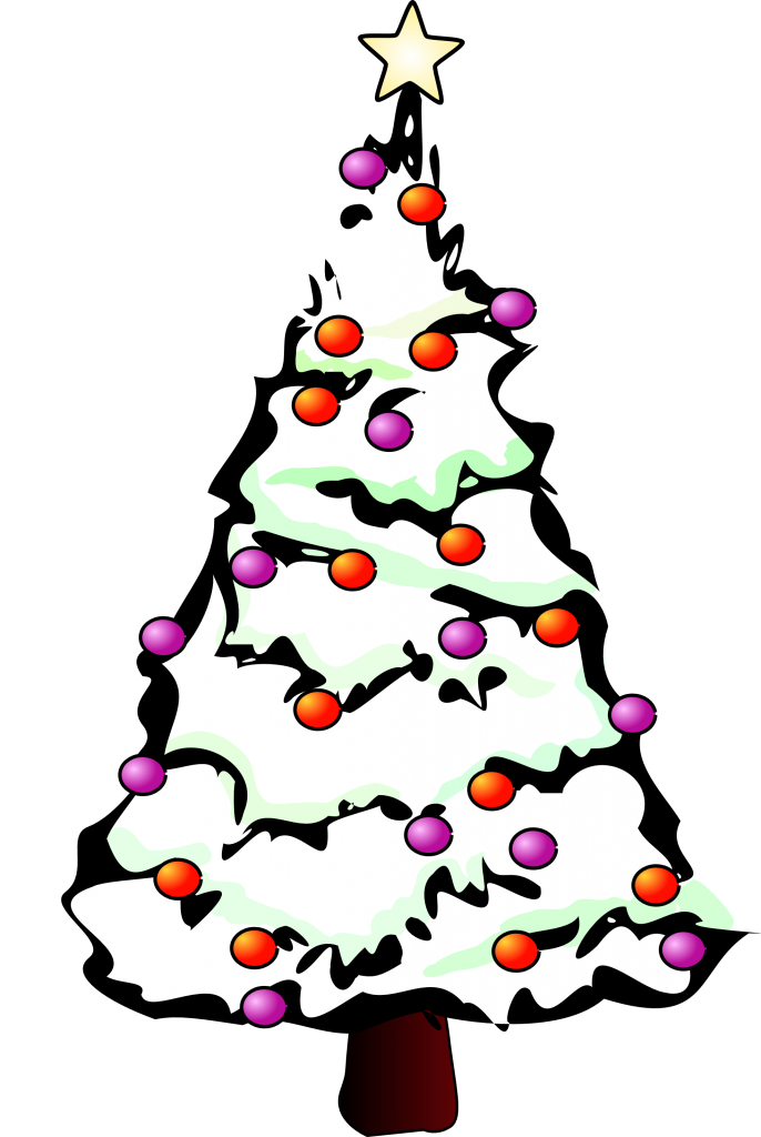 Tree drawings clipart clipart black and white Simple Christmas Tree Clipart at GetDrawings.com | Free for personal ... clipart black and white