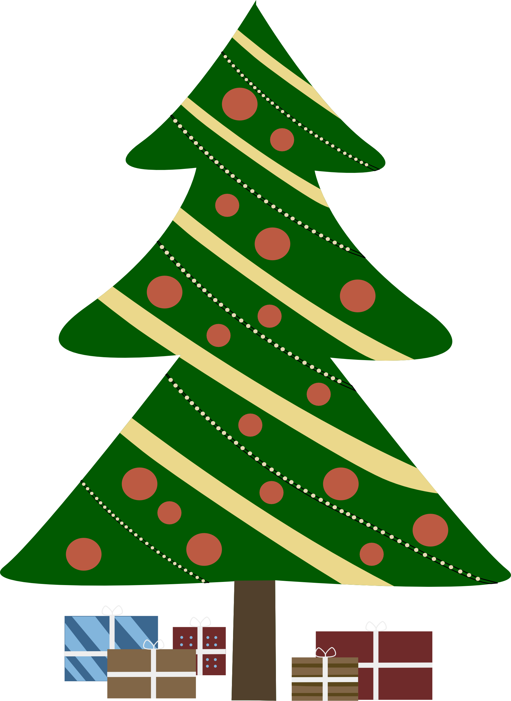 Angel tree free clipart vector royalty free Free Christmas Tree With Presents Clipart, Download Free Clip Art ... vector royalty free