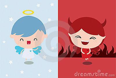 Angel Vs Devil Stock Photos - Image: 21562873 banner freeuse library