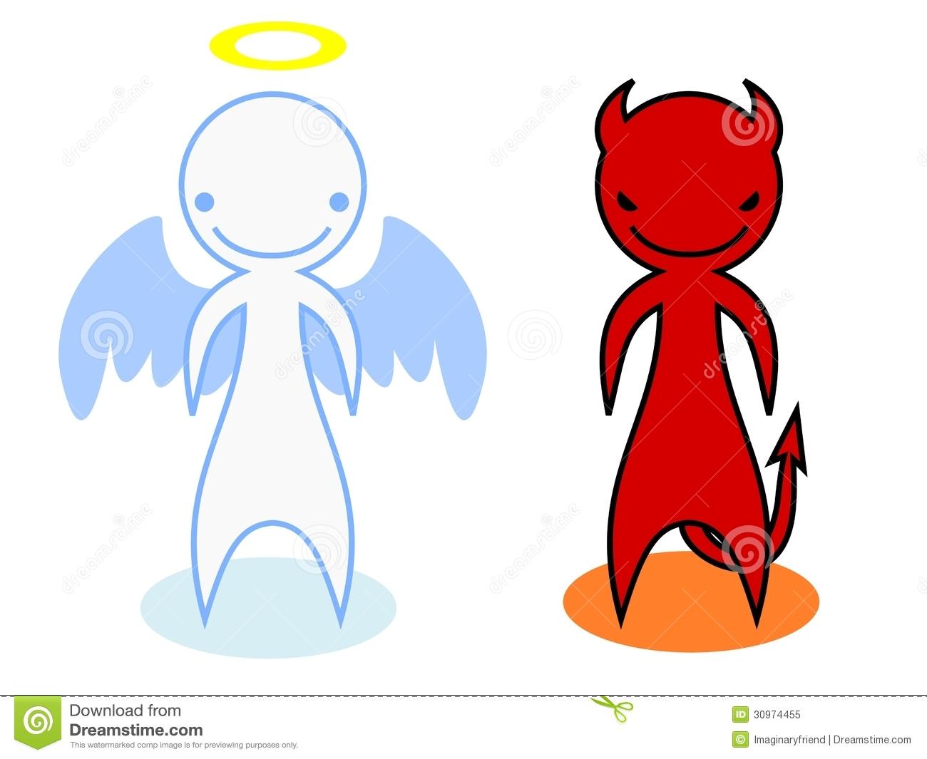 Angel vs devil clipart svg download Angel Vs Devil Stock Photos - Image: 21562873 svg download