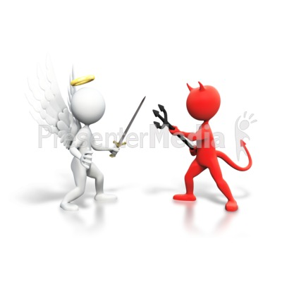Angel vs devil clipart banner freeuse Good Vs Evil Fight - Signs and Symbols - Great Clipart for ... banner freeuse