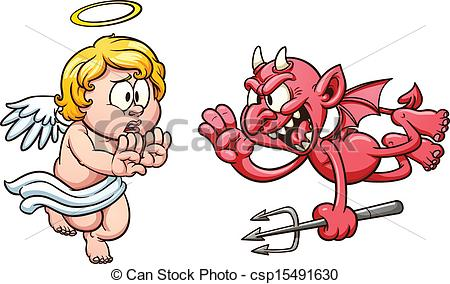 Angel vs devil clipart image transparent download Devil angel Vector Clip Art Royalty Free. 2,360 Devil angel ... image transparent download