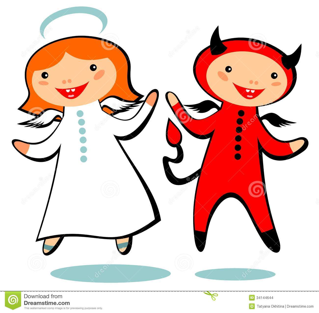 Angel Devil Clipart - Clipart Kid clip library stock